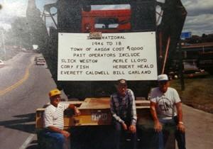 Crew with old highway equip.